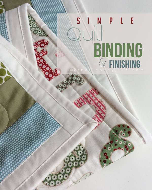 Simple Quilt Binding & Finishing Tutorial | Quilt binding, Mitered ... : easy quilt binding by machine - Adamdwight.com