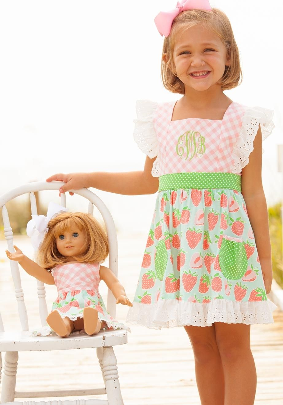 Dress code baby pink  Strawberry Pinafore Dress  Girls  Must Haves  Pinterest