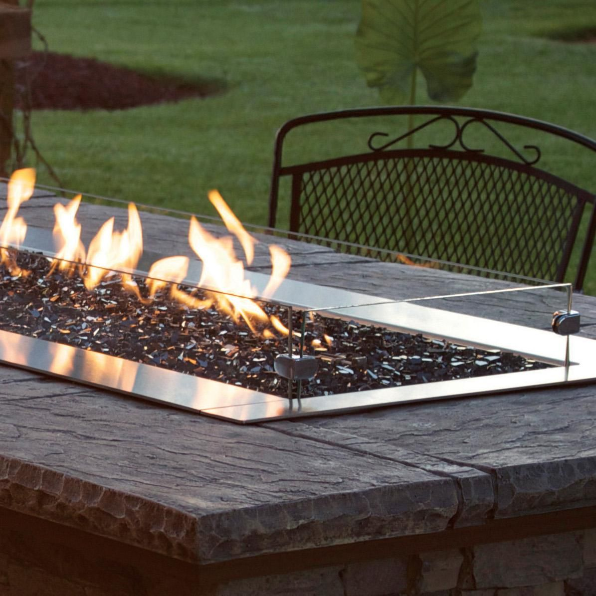 White Mountain Hearth By Empire Glass Wind Deflector Kit For 48