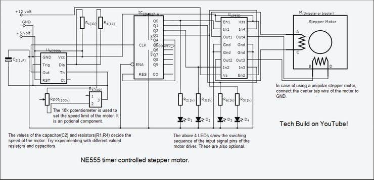 Schematic Diagram Stepper Motor Wiring Schematic And Wiring Diagram Motor Speed Stepper Motor Steppers