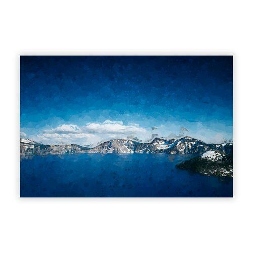 Poster Crater Lake in Oregon East Urban Home Größe: 29,7 cm H x 42 cm B