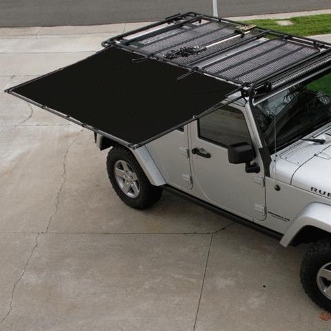 Sir Shade Telescoping Awning System Jk 4 Door For Gobi Rack Truck Roof Rack Gobi Rack Jeep Wrangler Accessories
