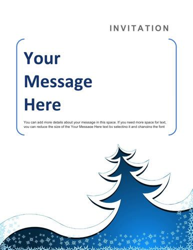 Blue Christmas party invitation sample - Free Invitation Template by
