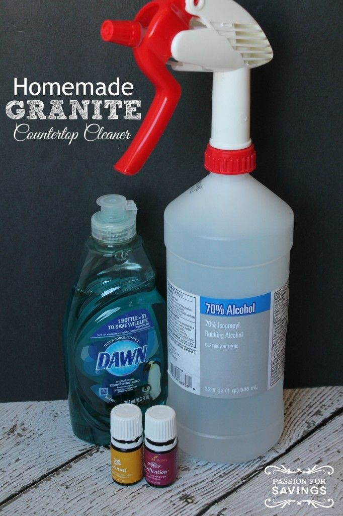 Want your Countertops to Shine? Make this Homemade Granite Countertop Cleaner plus The Absolute Best of DIY Essential Oil Recipes on Frugal Coupon Living.