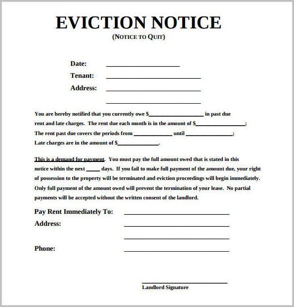 eviction notice form michigan form resume exles Bu Tarz Benim