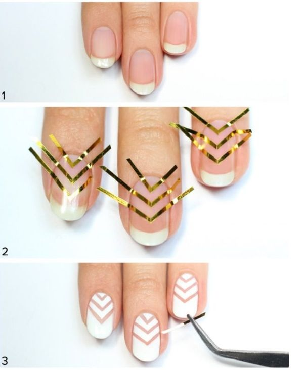 This Three Step Nail Tutorial Shows How To Get A Cute Aztec Look On