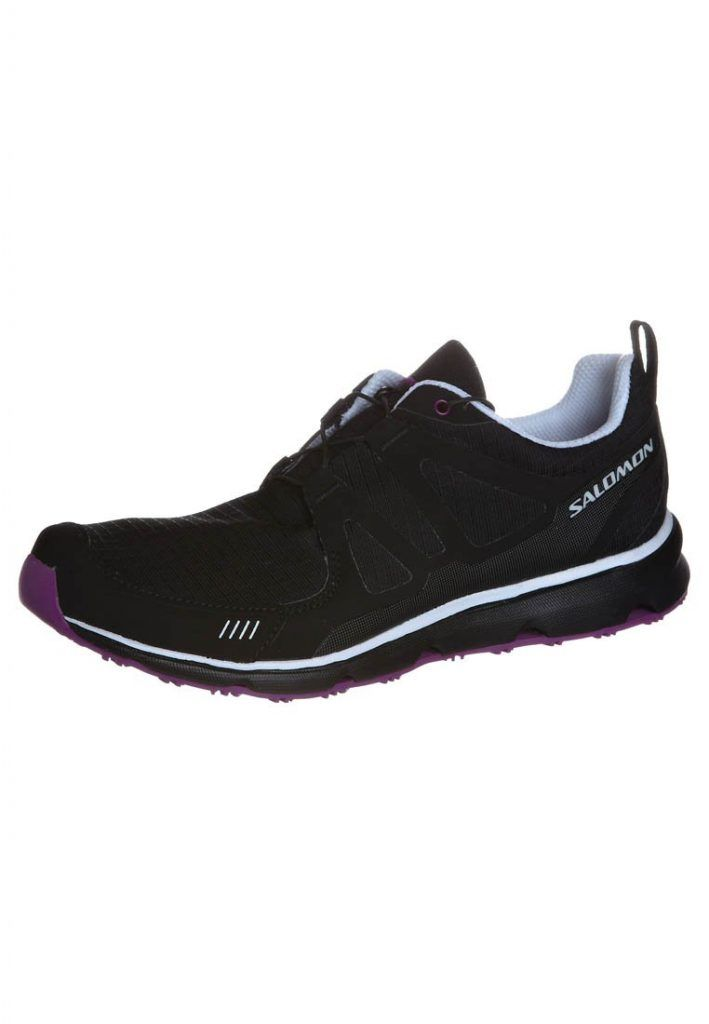 Salomon SWIND Sneaker low black/white/very purple für Damen