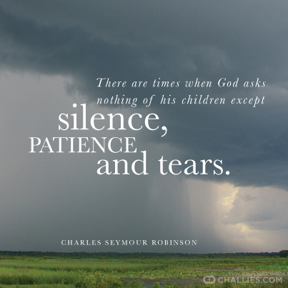 There Are Times When God Asks Nothing Of His Children Except Silence