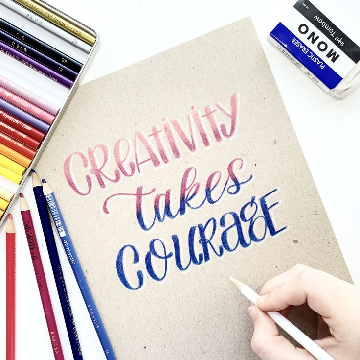 how to do calligraphy with a pencil