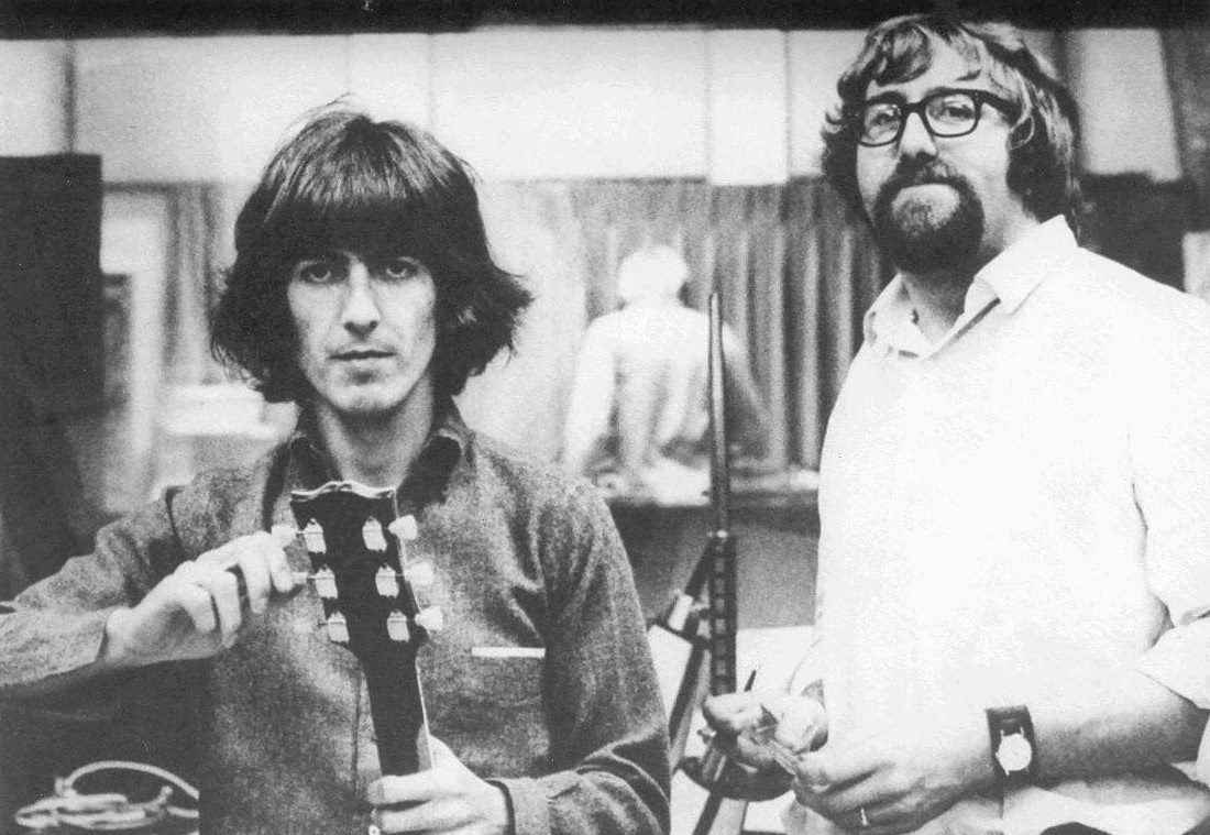 "George harrison and ""Big"" Mal Evans Jackie Lomax Session - October 1968  Sound Recorders Studio 