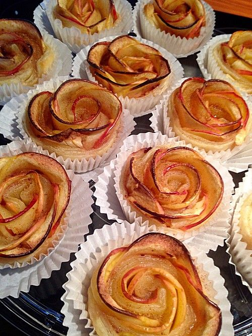 Apfel-Zimt-Rosen mit Blätterteig von ufaudie58 | Chefkoch #pumpkinspicecupcakes