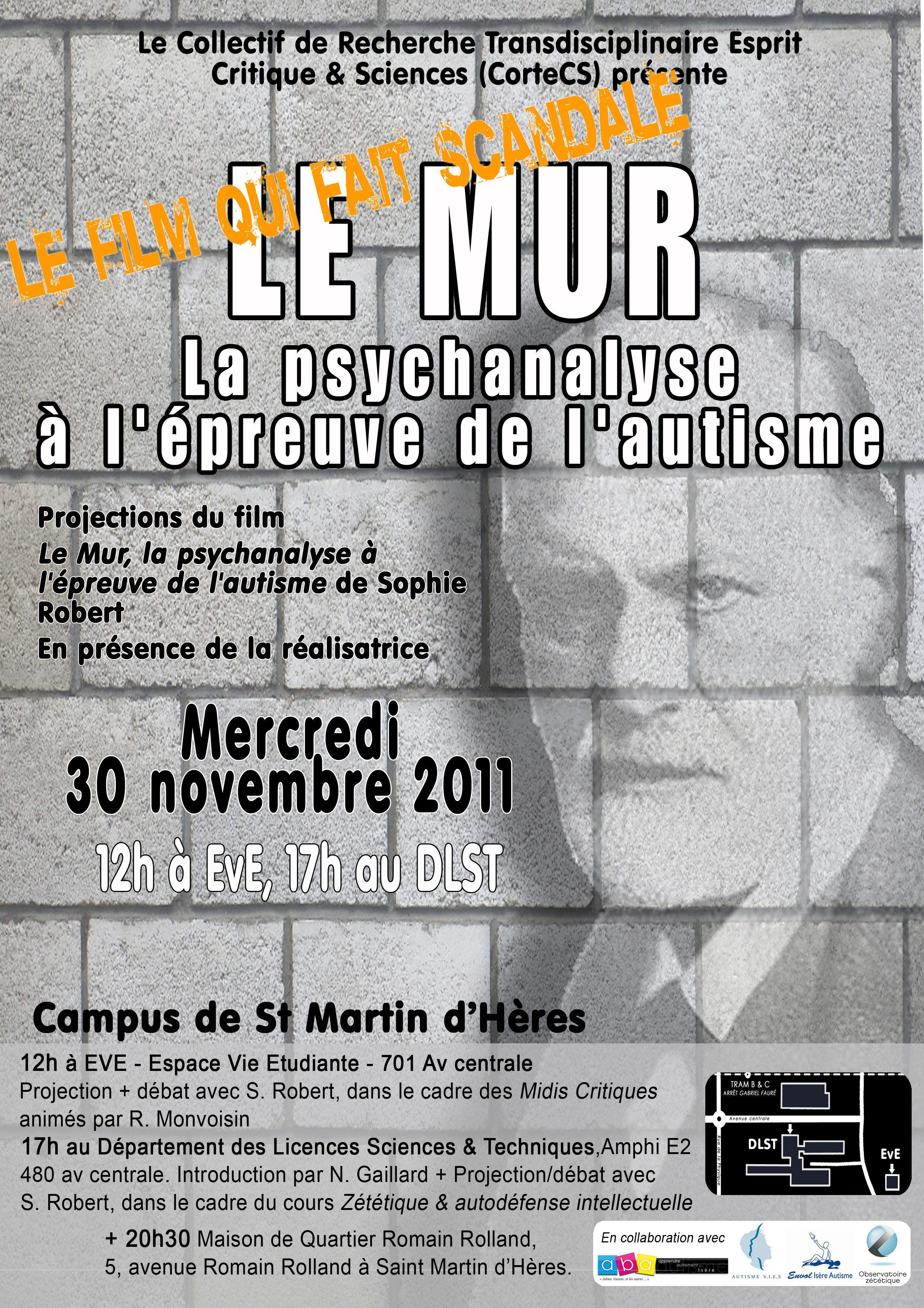 La psychanalyse à l'épreuve de l'autisme (30 novembre 2011)