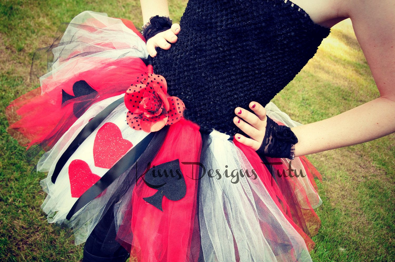 Queen of Hearts Tutu Dress--6 months up to pre-teen available. $30.00, via Etsy.