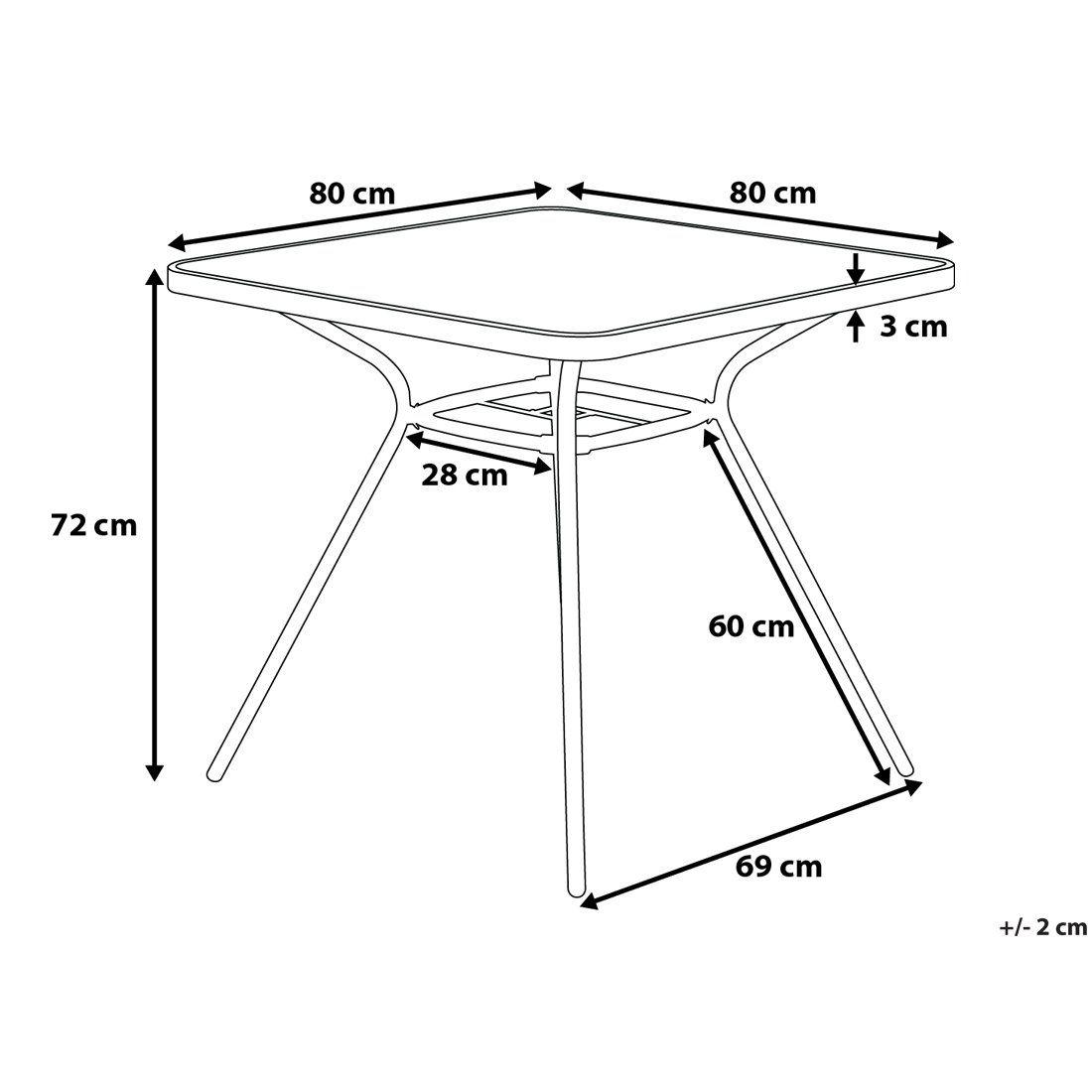 Moderner Und Praktischer Gartentisch In Schwarz In 2020 Home