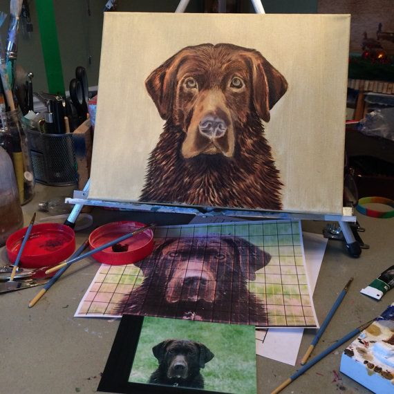 Custom Dog Portrait Head and Chest Only Oil by MarieStephensArt ...