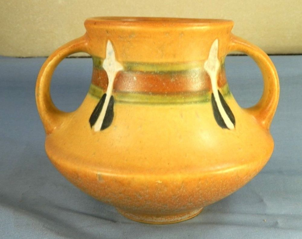 Vintage roseville art pottery monticello double handled vase vintage roseville art pottery monticello double handled vase orange arts crafts reviewsmspy