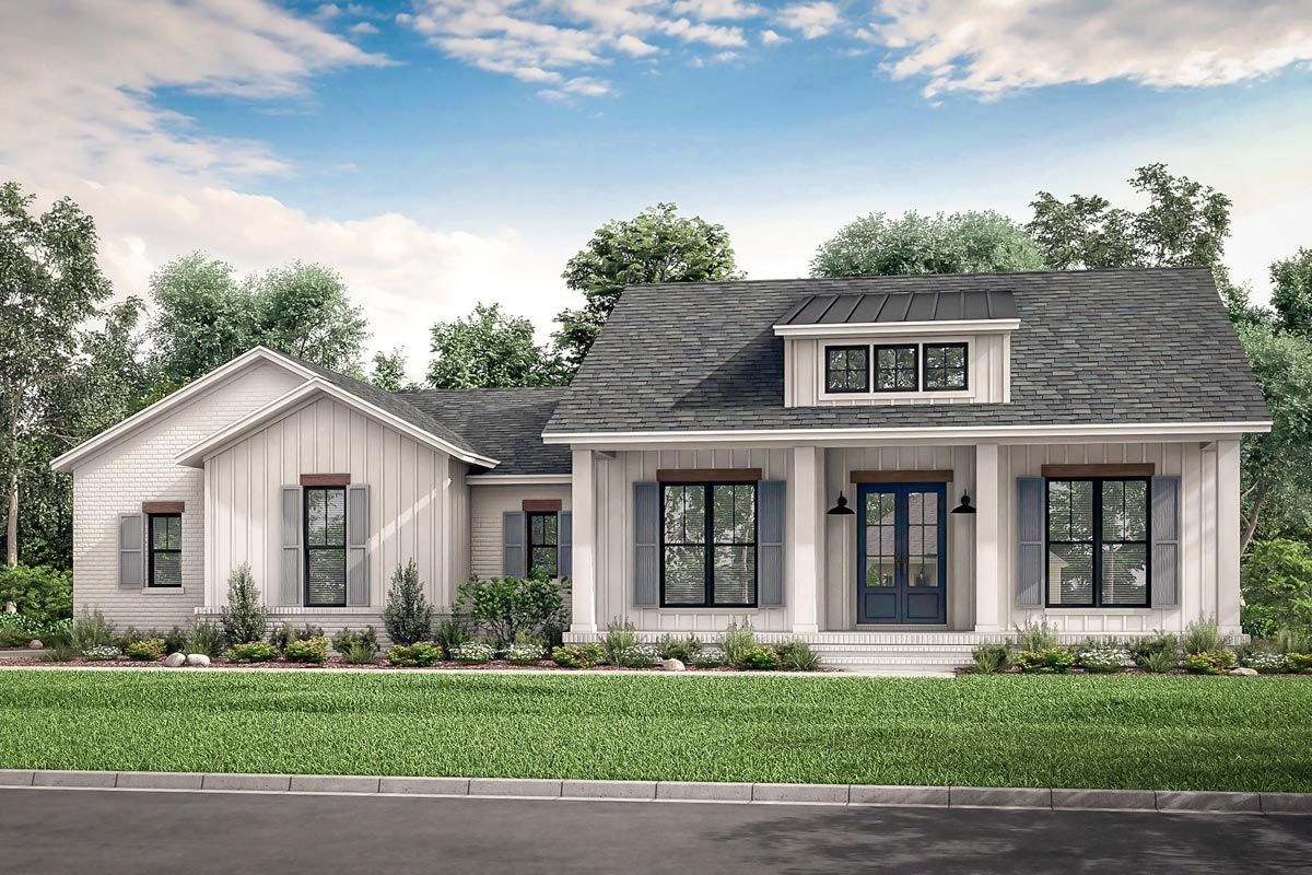 Plan 51817HZ Country Craftsman House Plan with Split