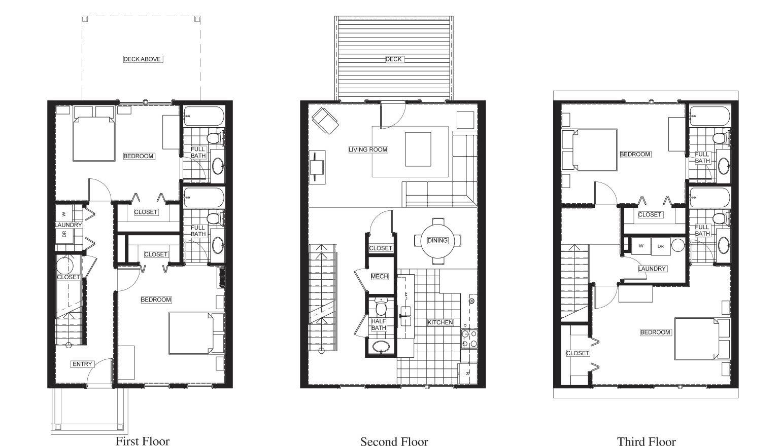 Charleston Townes Floor Plan Floor Plans How To Plan Flooring