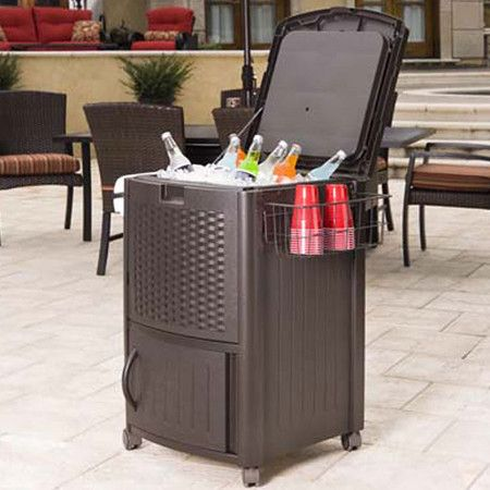 outdoor cooler want need love rattan bar k hler home depot rh pinterest de