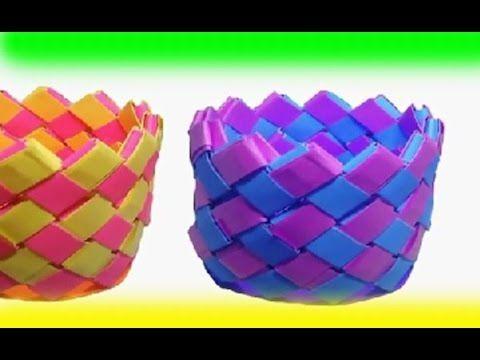 Cara Membuat Anyaman Kertas Kerajinan Tangan Kreatif Origami