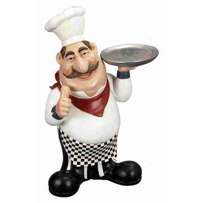 August Grove Rosalie Chef Figurine
