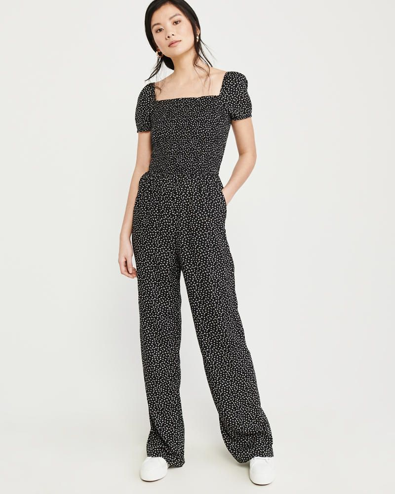 937f49056d43 Womens Smocked Jumpsuit