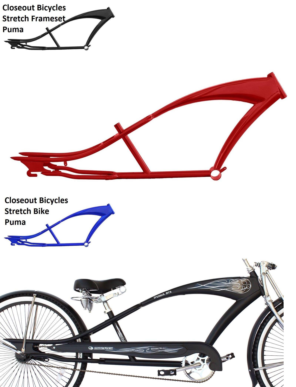 Lowrider Stretch Beach Cruiser : lowrider, stretch, beach, cruiser, Bicycle, Frames, 22679:, Colors!, Stretch, Beach, Cruiser, Steel, Frame, Micargi, Pu…, Rider, Bicycles,, Bicycle,