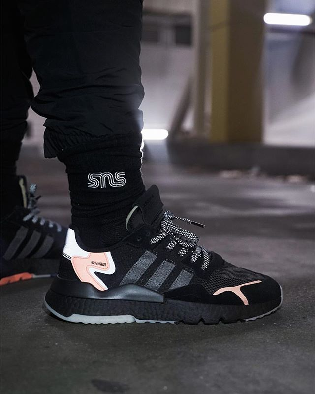 adidas originals NITE JOGGER core blackcarbonactive blue