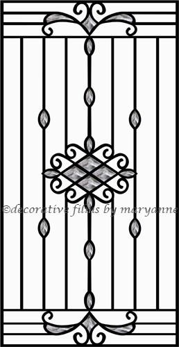 Wrought Iron 4 Decorative Window Film This Design Was Created To Replicate A Fence Look It Features Black And Gray
