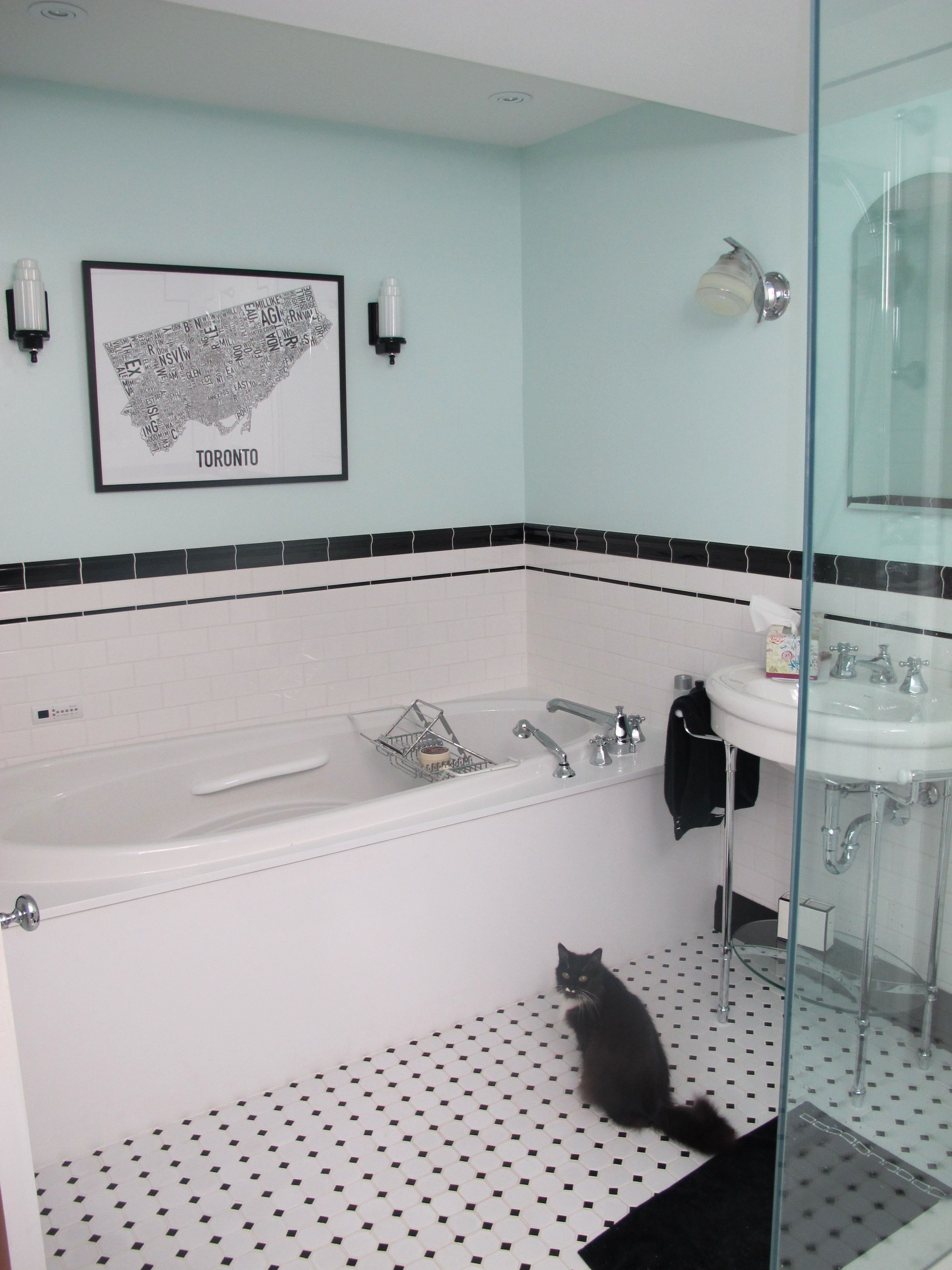 Black and White Tile Floor Bathroom Beautiful Bathroom Incredible ...