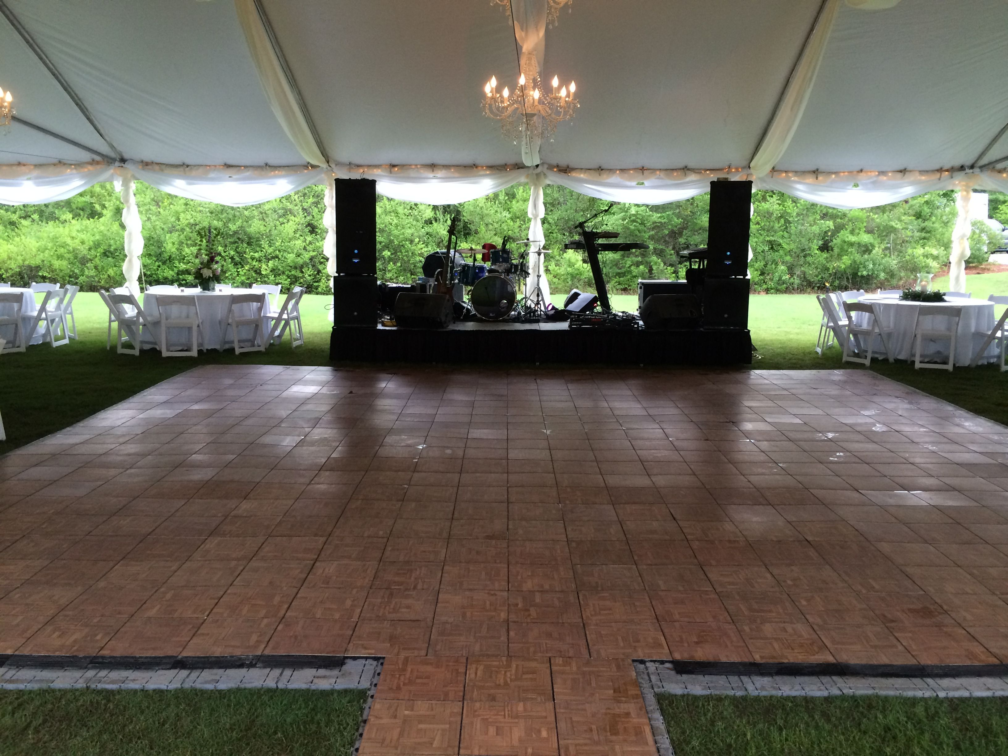 Large dance floor with underlay at Magnolia Hall at ...