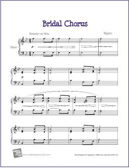 Bridal Chorus Here Comes The Bride Sheet Music For Piano Http Makingmusicfun Htm F Prin Free Printable Solo