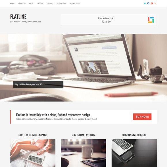 FlatLine - WordPress Business Theme by Theme Junkie on Creative Market