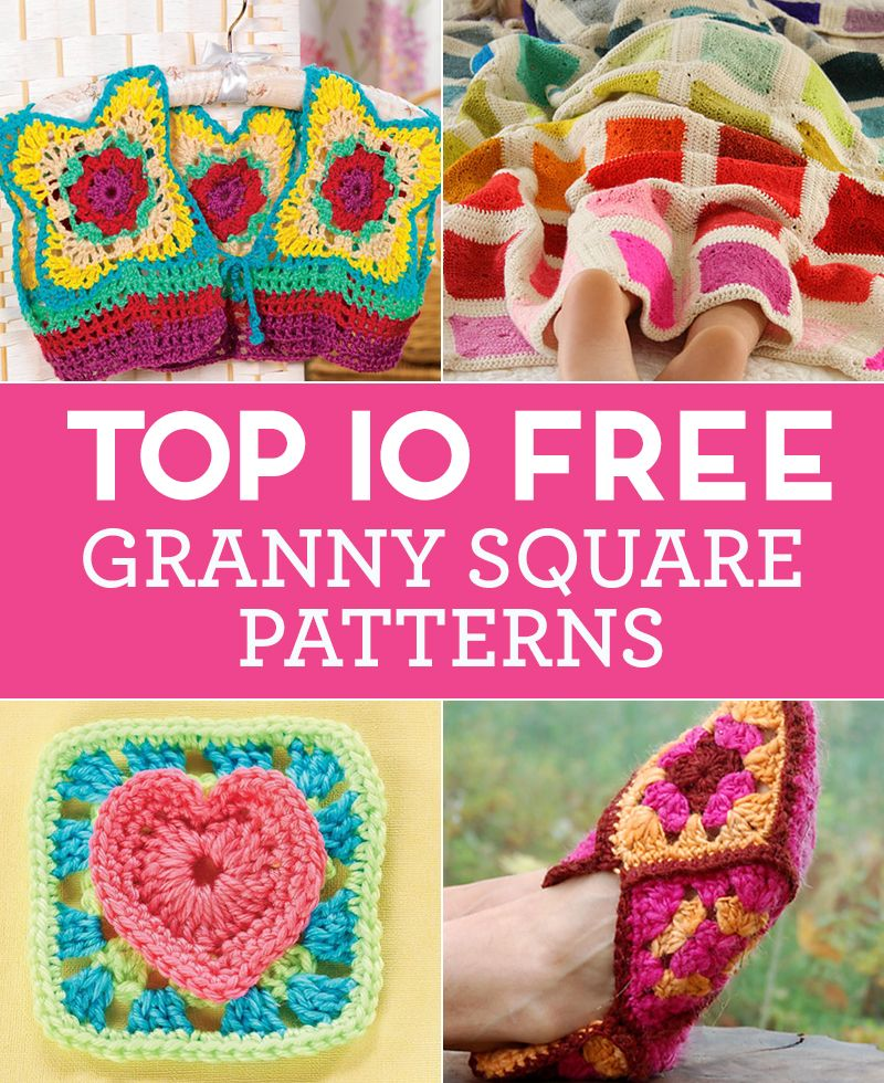 Top 10 FREE Granny Square Patterns | + CROCHET and KNIT and others ...