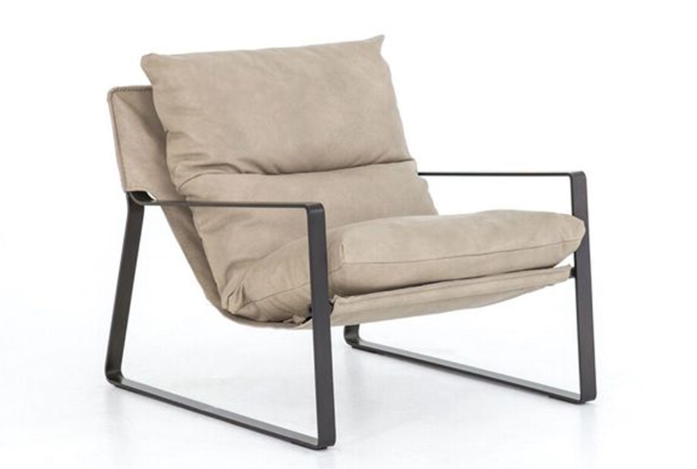 OTB IVORY SLINGBACK ACCENT CHAIR | Sling chair, Metal ... on Living Accents Sling Folding Chaise id=23955