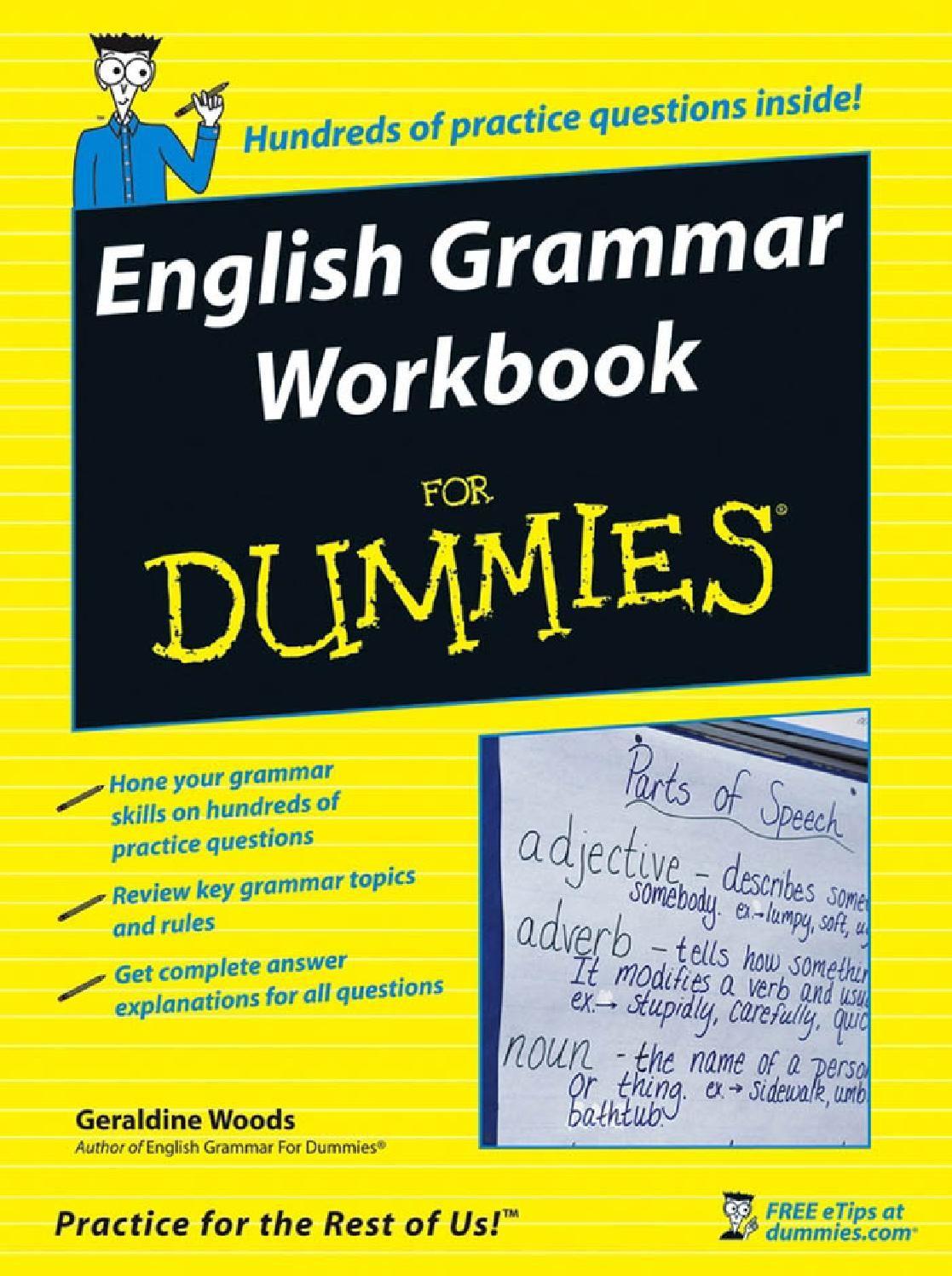 English grammar workbook for dummies | English grammar, Language ...