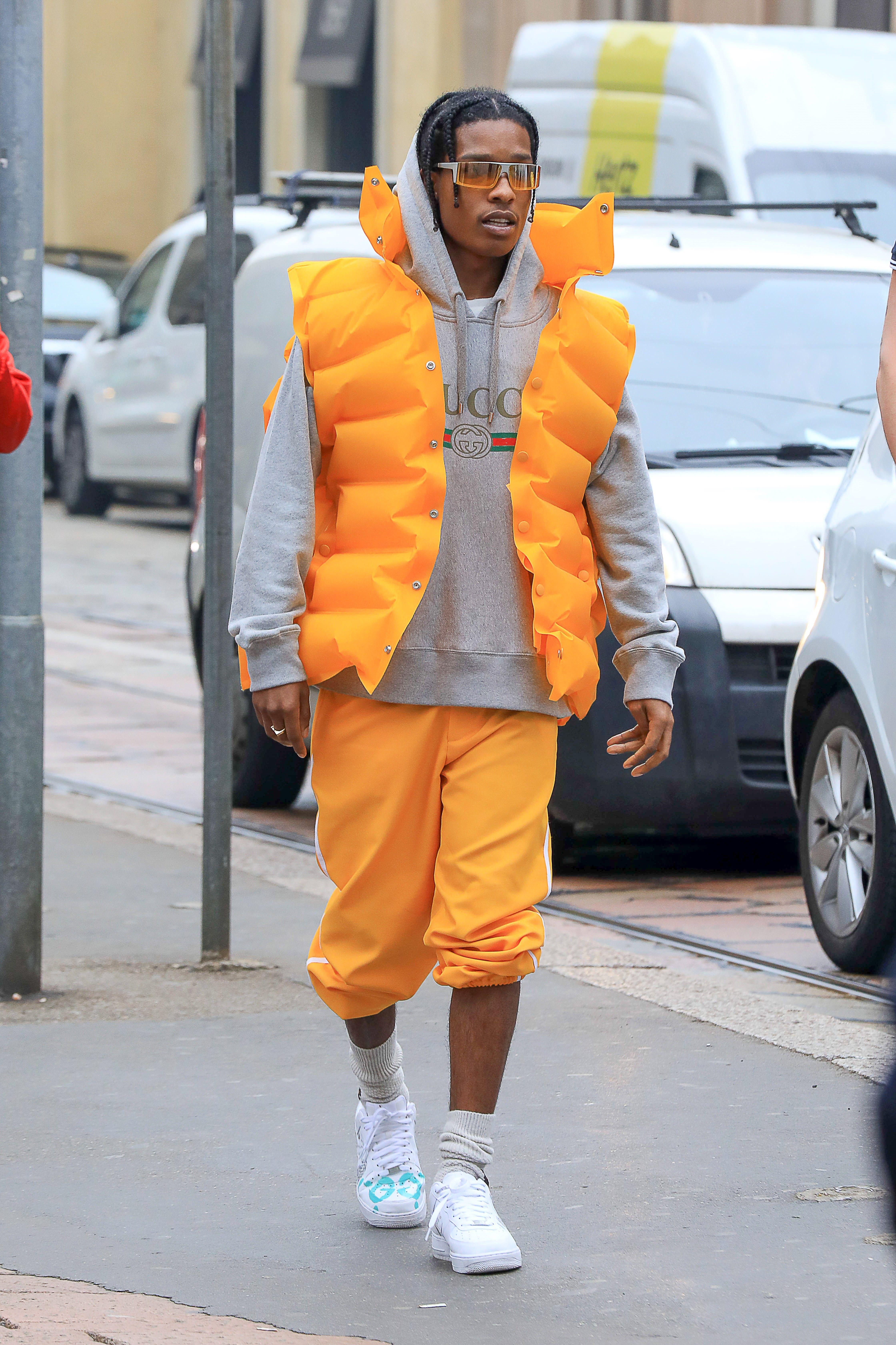 Asap Rocky Feeling Yellow On Asap Rocky Fashion Rapper