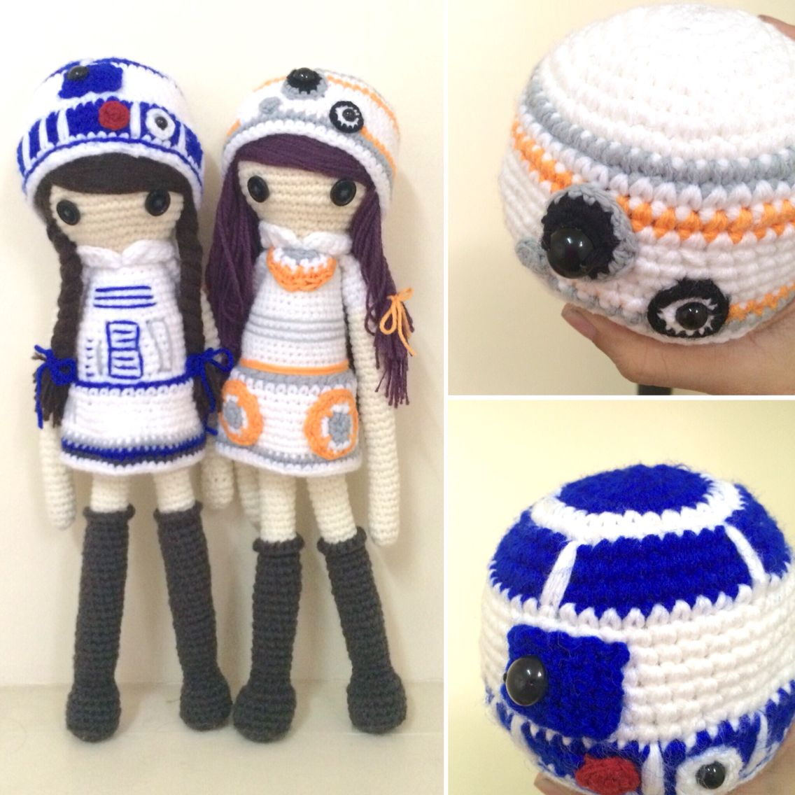 Star Wars R2D2 crocheted art dolls | Crochet | Pinterest | Muñecas ...