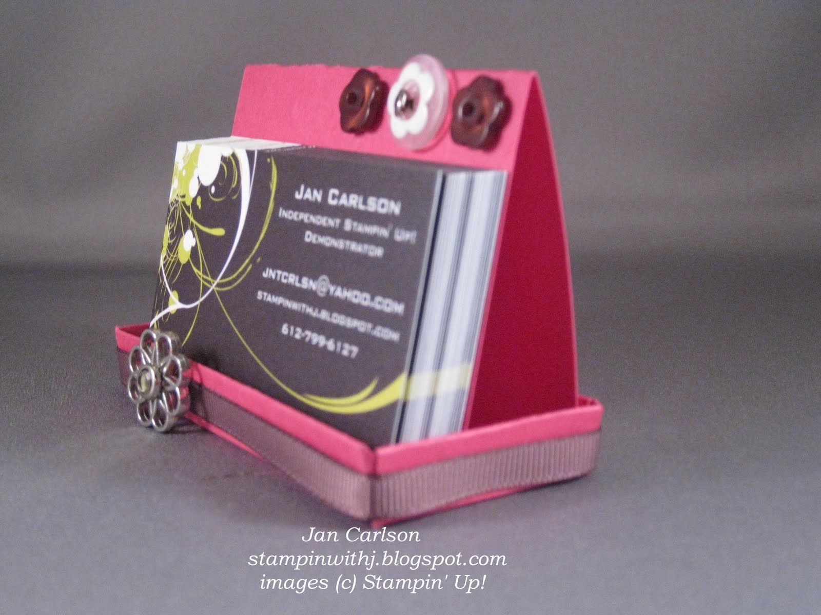 how to make a business card holder diy tutorial stephanie