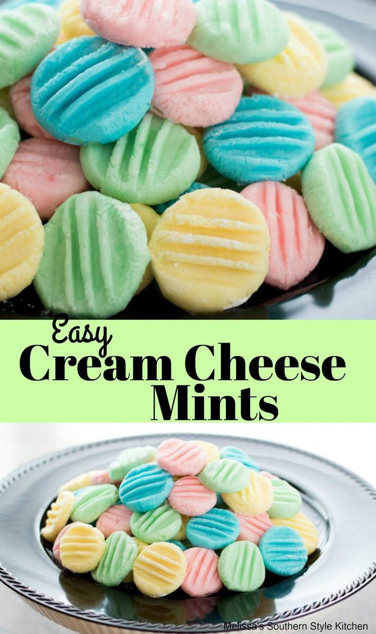 Easy Cream Cheese Mints - melissassouthernstylekit
