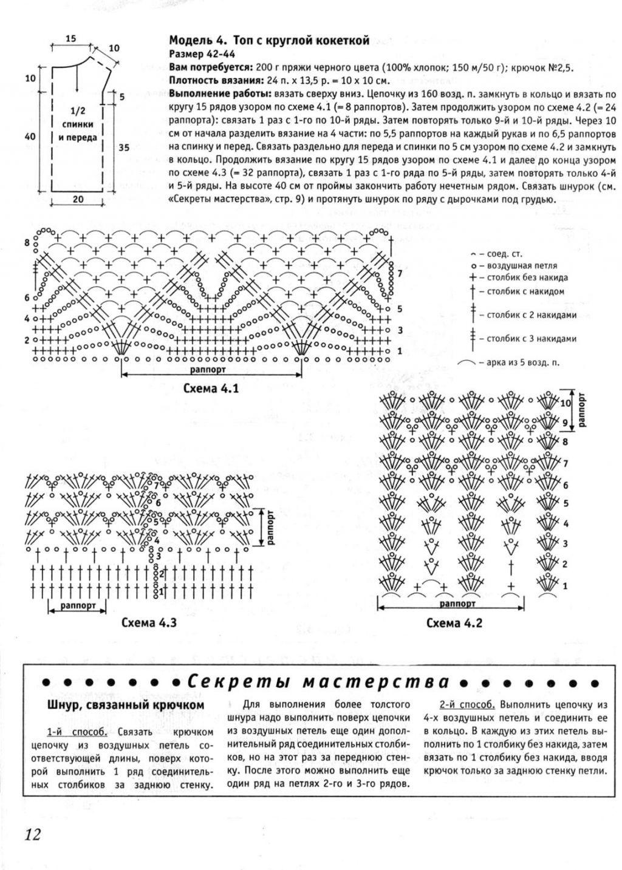 безрукавки, жилеты и топы крючком Записи в рубрике