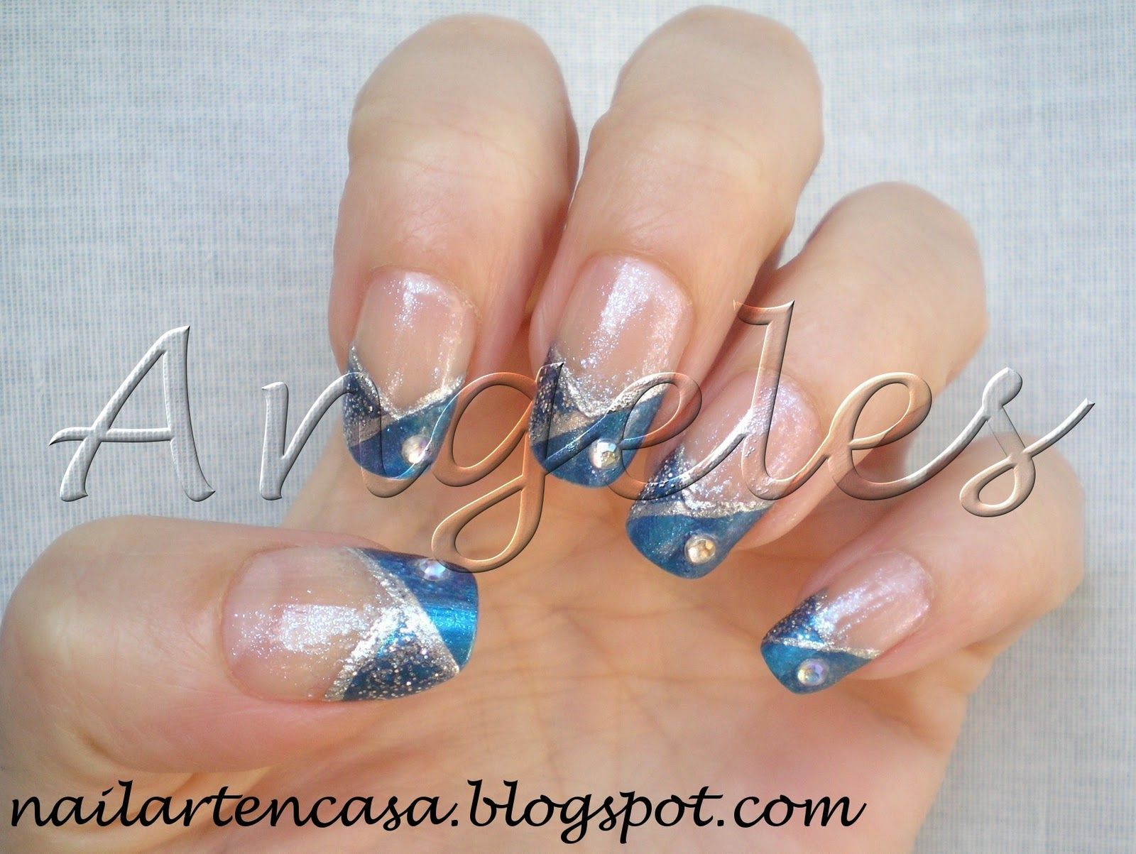 pedicura azul - Buscar con Google | My nails! ;) | Pinterest ...