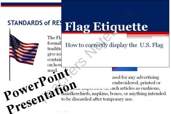 Flag Etiquette Powerpoint For Civics Veterans Day 4th Of July
