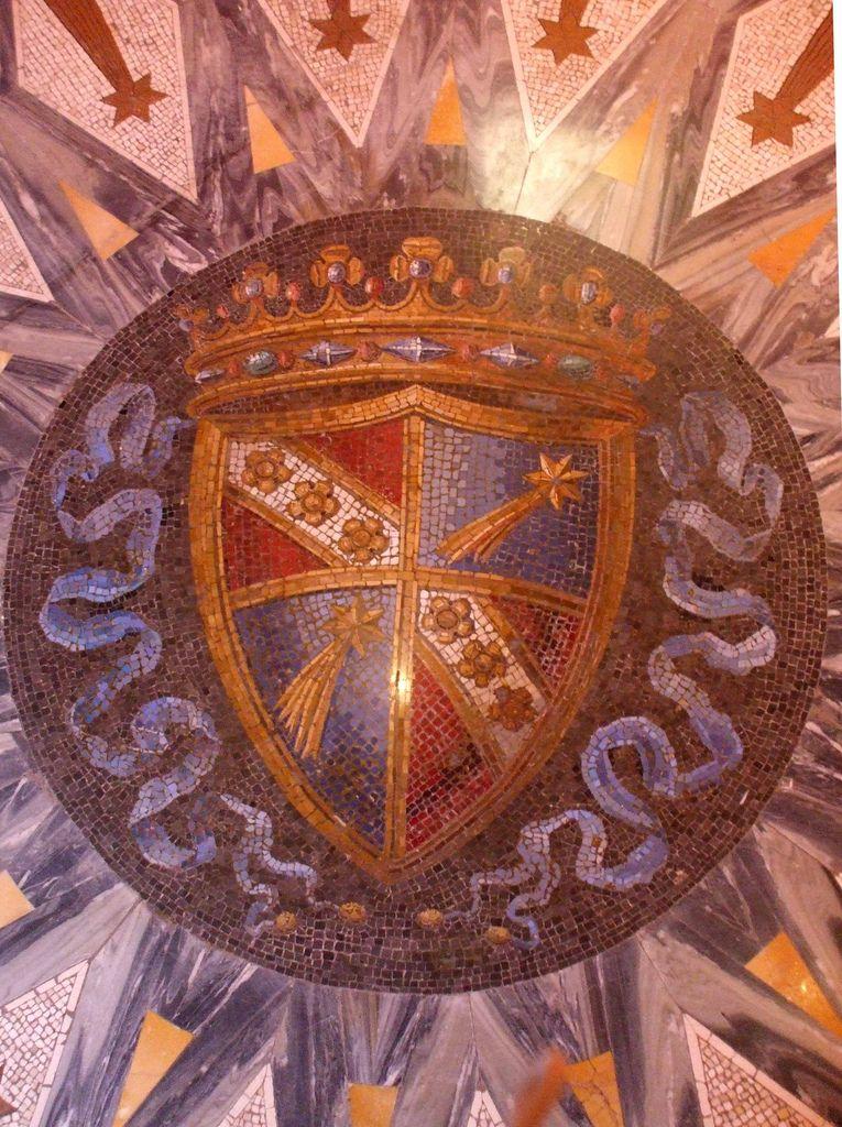 Stemma dei Principi Torlonia. Coat of arms, Prince Torlonia. 19th Century Villa Torlonia - Roma