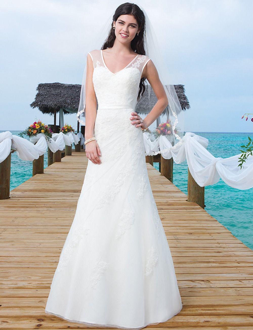 Don\'s Bridal Real Bride Gown 2016 Elegant Appliques Wedding Dresses ...