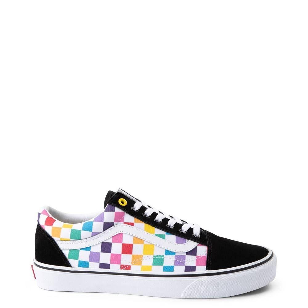 Vans Old Skool Rainbow Checkerboard Skate Shoe Multi