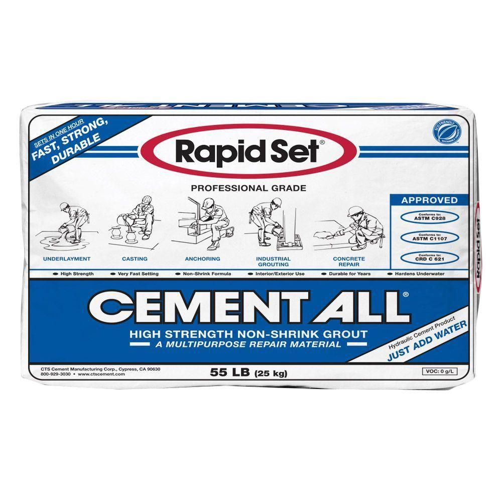 Rapid Set 55 Lb Cement All Multi Purpose Construction Material 02010055 The Home Depot Construction Materials Cement Countertops Cement