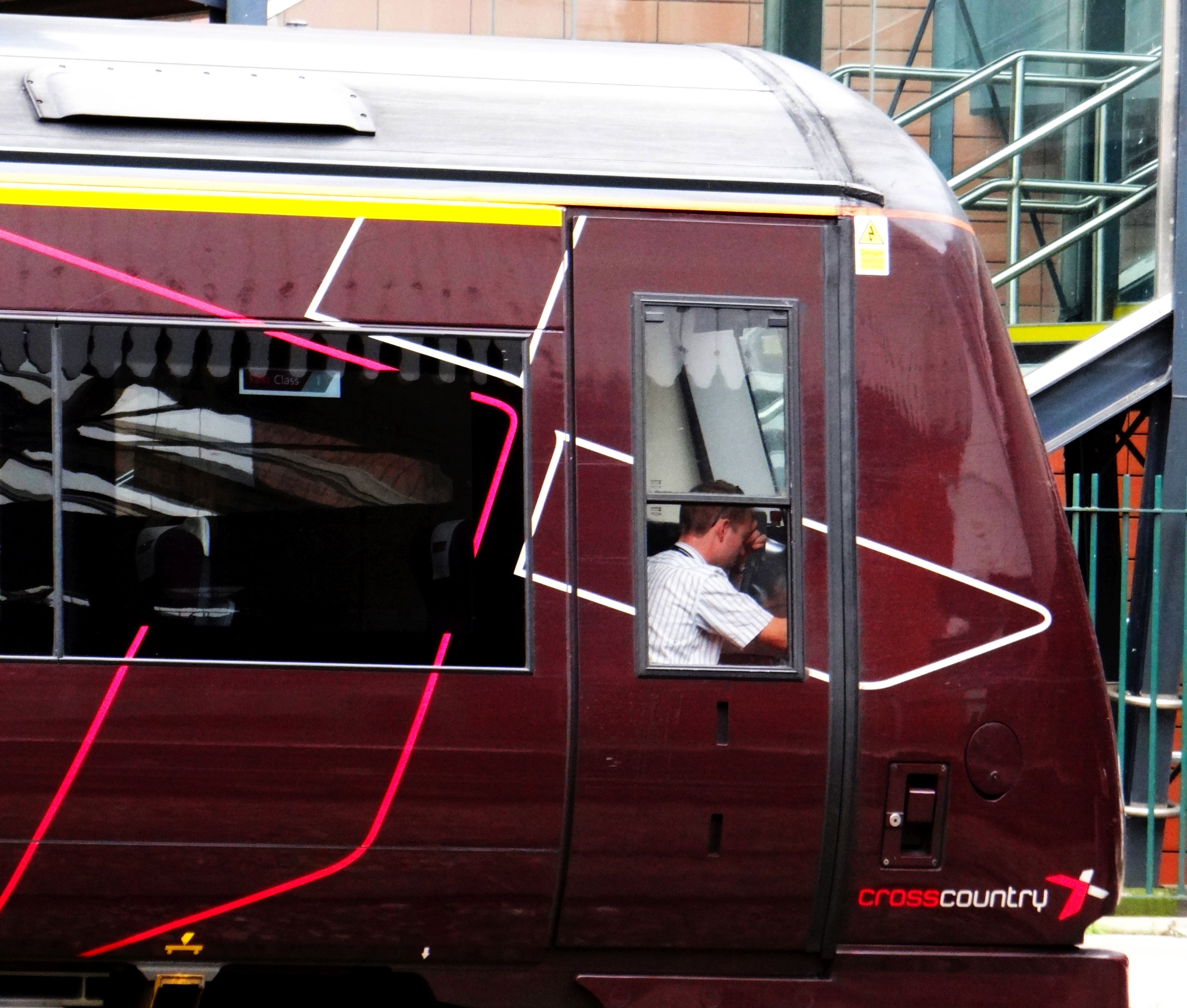 Crosscountry Train Driver Clearly Showing Signs Of Stress And Tiredness At Nottingham Station Carrington Street