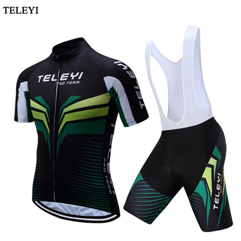 Teleyi Breathable Sports Clothing Kit Quick Dry Roupa Ciclismo maillot Cycling  Jersey set hombre verano Bike 5648c3992