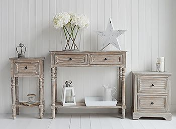 Richmond Coastal Cottage Furniture Range Of Shabby Chic Cottage - Cottage style console table